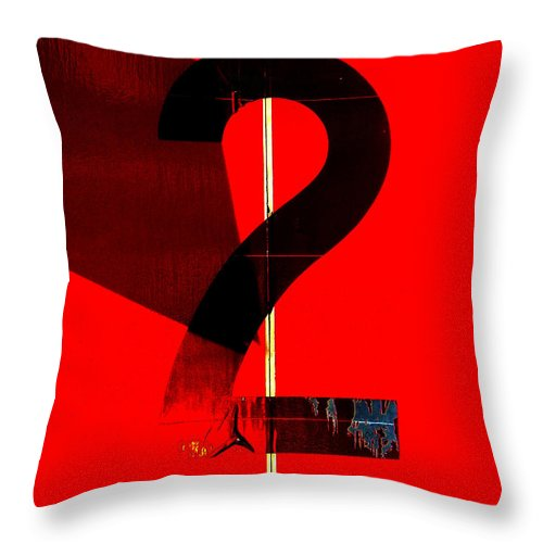 Abstract Throw Pillow featuring the photograph Two by Lauren Leigh Hunter Fine Art Photography