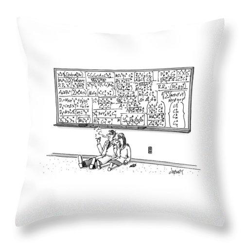 Two Mathematicians Sitting Beneath A Giant Throw Pillow