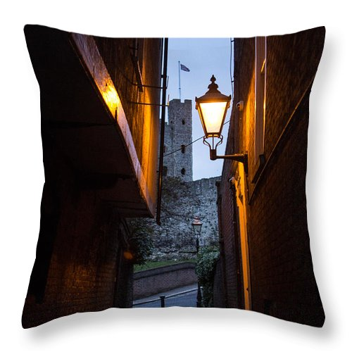 Two Post Ally Throw Pillow featuring the photograph Two Post Ally by Dawn OConnor
