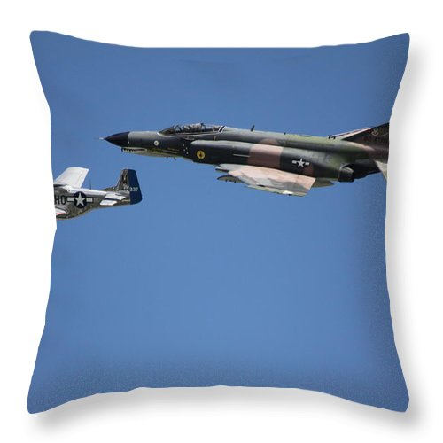 Throw Pillow featuring the photograph Two by Sue Conwell