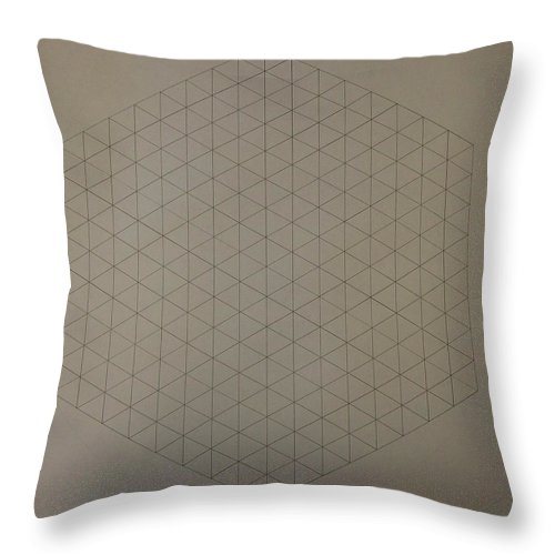 Math Throw Pillow featuring the drawing Two To The Power Of Nine Or Eight Cubed by Jason Padgett