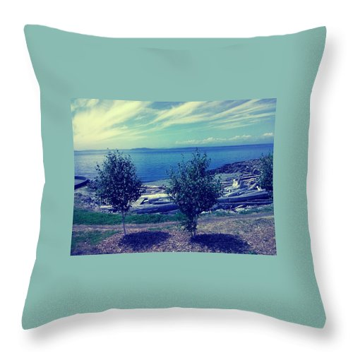 Seattle Throw Pillow featuring the photograph Two Trees by Barbara Christensen