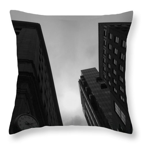 Time Throw Pillow featuring the photograph Boston Two Twenty by Paul Wilford