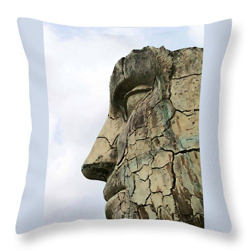 Tyndareus Cracked Throw Pillow featuring the photograph Tyndareus Cracked 1 by Ellen Henneke