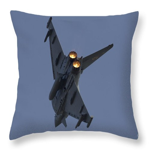 Raf Typhoon Throw Pillow featuring the digital art Typhoon Afterburner by J Biggadike