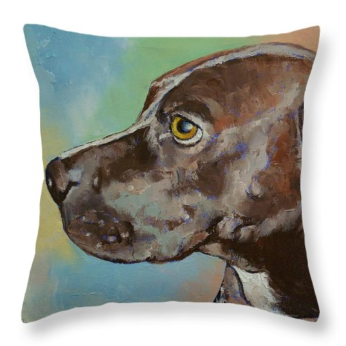 Tyson Throw Pillow featuring the painting Tyson by Michael Creese