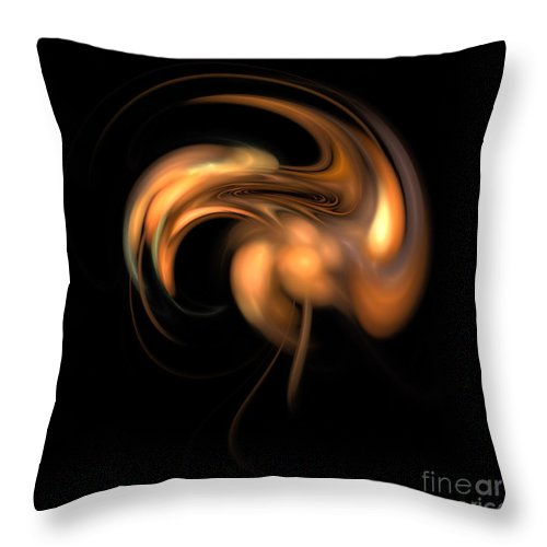U F C / Hybrid Experiment Throw Pillow featuring the digital art U F C / Hybrid Experiment by Elizabeth McTaggart