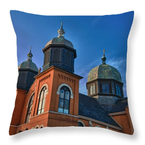 Buildings Throw Pillow featuring the photograph Ukranian Orthodox Church 20049 by Guy Whiteley