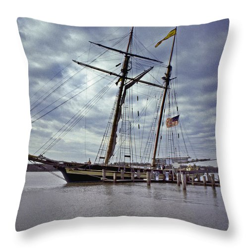 Maritime Throw Pillow featuring the photograph Under Cloudy Skies by Skip Willits