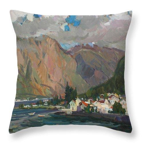 Montenegro Throw Pillow featuring the painting Under Heaven Of Montenegro by Juliya Zhukova