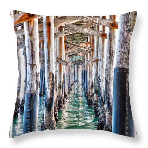 Pier Throw Pillow featuring the photograph Under The Pier by Chris Brannen