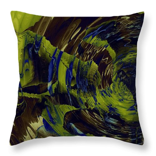 Under The Ripples Throw Pillow featuring the digital art Under The Ripples by Elizabeth McTaggart