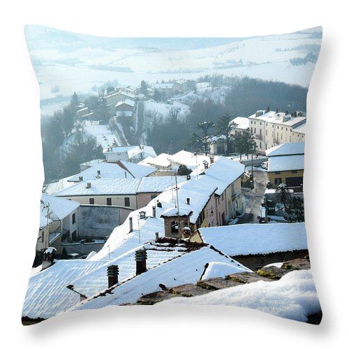 Snow Throw Pillow featuring the photograph Under The Snow by Guido Strambio