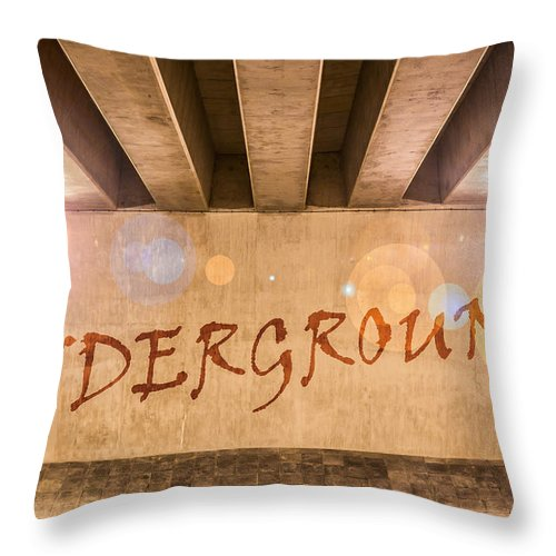 Art Throw Pillow featuring the photograph Underground by Semmick Photo