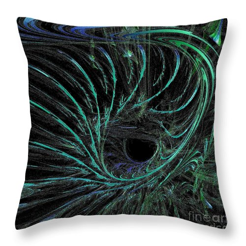 Current Throw Pillow featuring the digital art Underwater Current by Gail Matthews