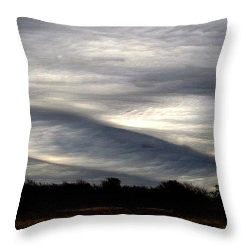 Undulatus Asperatus Throw Pillow featuring the photograph Undulatus Asperatus Skies 2 by Shannon Story