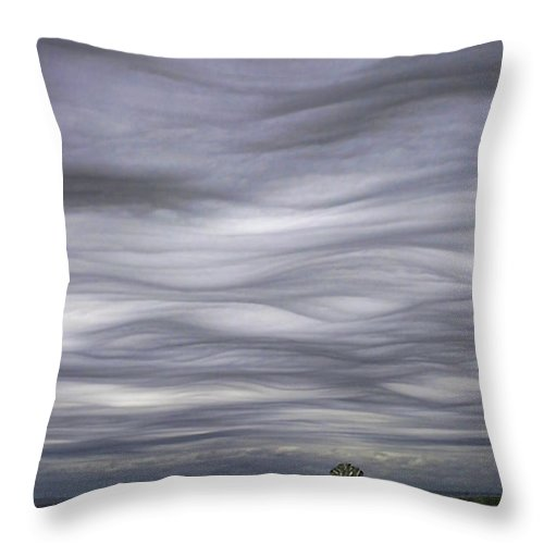 Clouds Throw Pillow featuring the photograph Undulatus Asperatus Skies 3 by Shannon Story