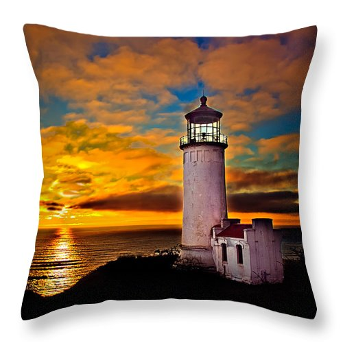 Llighthouse Throw Pillow featuring the photograph Unforgettable by Robert Bales