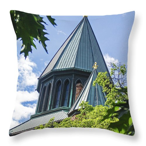 Church Throw Pillow featuring the photograph Union Collage Church by Eric Swan