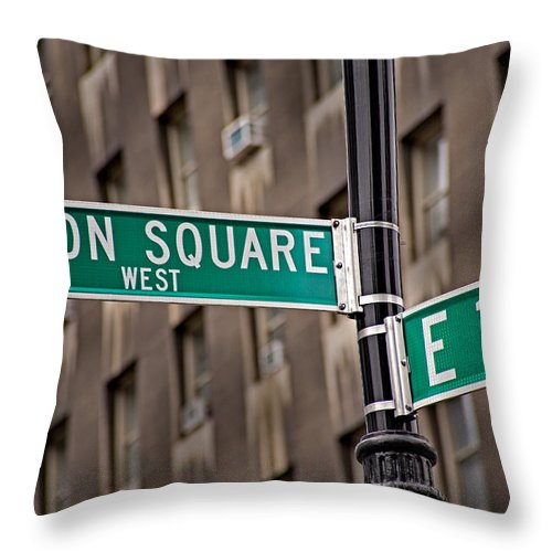 Union Square Throw Pillow featuring the photograph Union Square West I by Susan Candelario