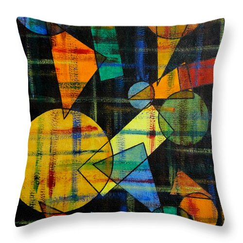 Colorful Throw Pillow featuring the painting Unitled-45 by Tamal Sen Sharma