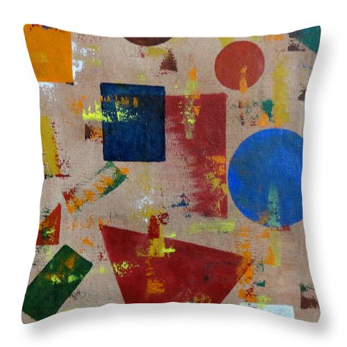 Colorful Throw Pillow featuring the painting Unitled-49 by Tamal Sen Sharma