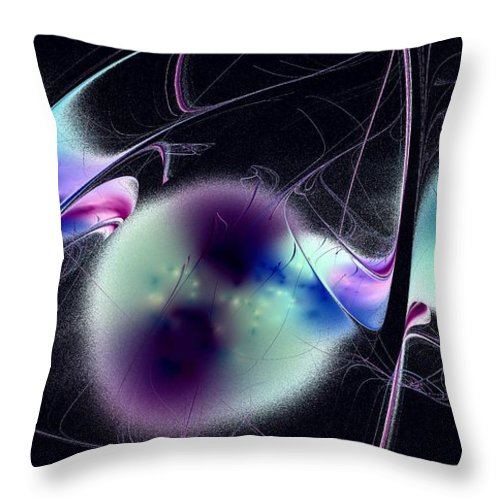 Malakhova Throw Pillow featuring the digital art Unmoored Souls by Anastasiya Malakhova