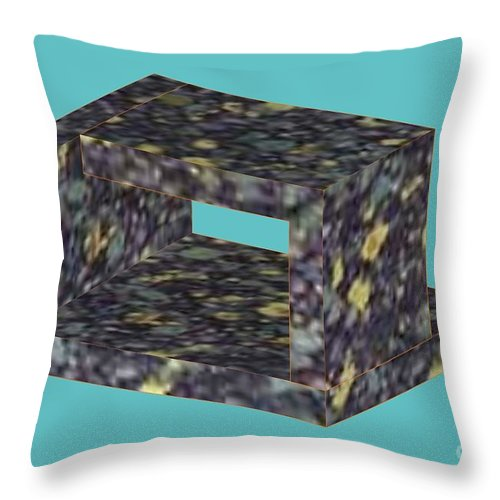 Unreal Throw Pillow featuring the photograph Unreal Object by Evgeny Pisarev