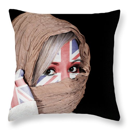 Headscarf Throw Pillow featuring the photograph Untied Kingdom by Paul Fell