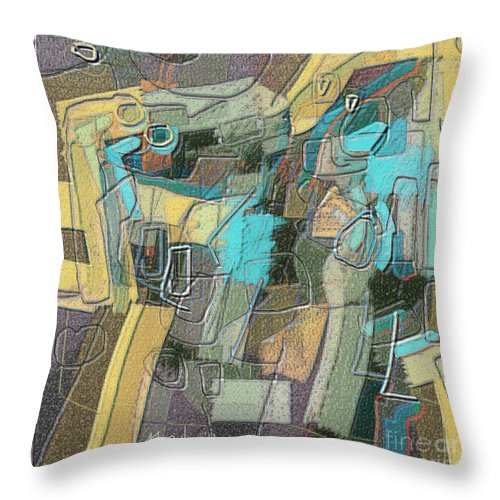 Fine Art Throw Pillow featuring the painting Untitled 457 by Nedunseralathan R