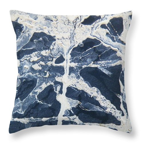 Snowtire Throw Pillow featuring the photograph Untitled Clay On Rubber by Brian Boyle