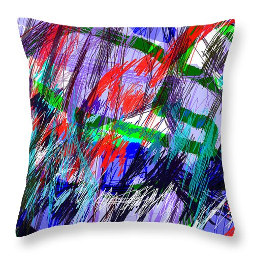 Abstract Art Throw Pillow featuring the drawing Untitled Drawing by Paul Sutcliffe