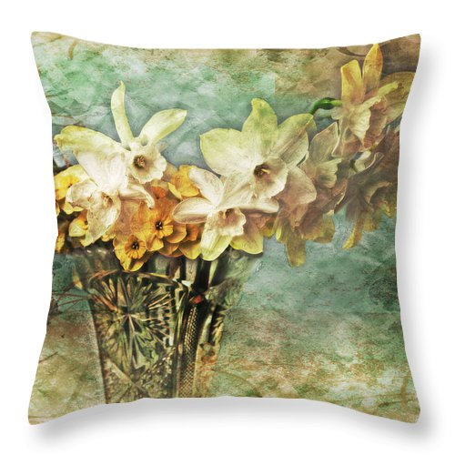 Flowers Throw Pillow featuring the photograph Untitled by John Anderson