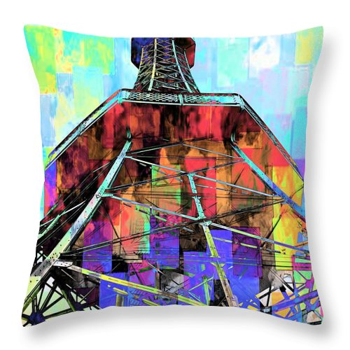 Pylon Throw Pillow featuring the photograph Up High by Daniela White