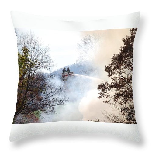 Fire Throw Pillow featuring the photograph Up In Smoke by Eric Liller
