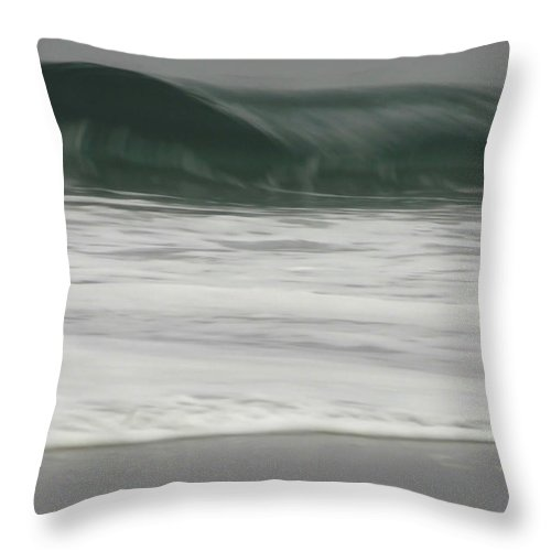 Ocean Throw Pillow featuring the photograph Upper Crest by Donna Blackhall