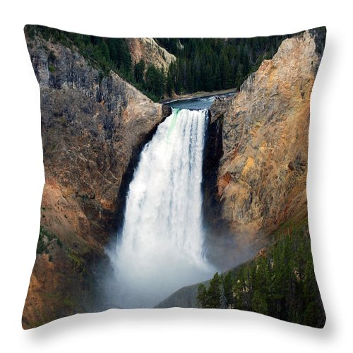 Upper Falls Throw Pillow featuring the photograph Upper Falls by Breanna Calkins