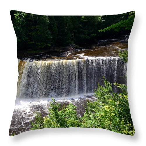 Rivers Throw Pillow featuring the photograph Upper Tahquamenon Falls by Michelle Calkins
