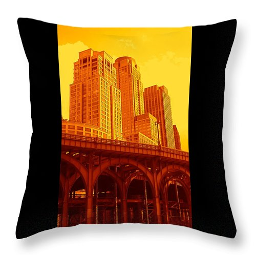 Manhattan Prints And Posters Throw Pillow featuring the photograph Upper West Side And Hudson River Manhattan by Monique's Fine Art