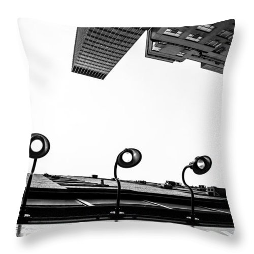 Nyc Throw Pillow featuring the photograph Upside Of Lexington by Karol Livote