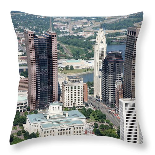 Columbus Throw Pillow featuring the photograph Uptown District by Bill Cobb