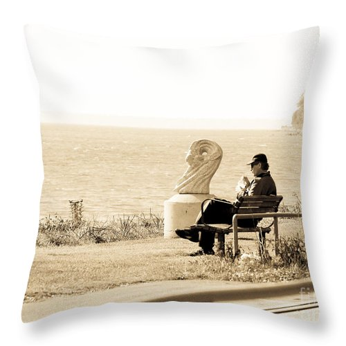 White Rock Throw Pillow featuring the photograph Urban Abstract by David Fabian