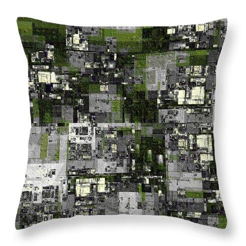 Fractal Throw Pillow featuring the digital art Urban Scene Going Green by Richard Ortolano