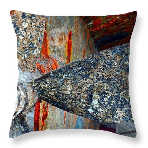 Abstract Throw Pillow featuring the photograph Urchins Of Time by Lauren Leigh Hunter Fine Art Photography