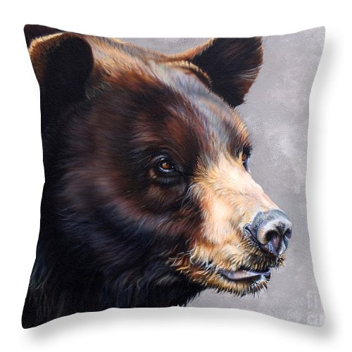Bear Throw Pillow featuring the painting Ursa Major by J W Baker