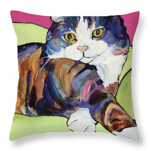 Pat Saunders-white Canvas Prints Throw Pillow featuring the painting Ursula by Pat Saunders-White