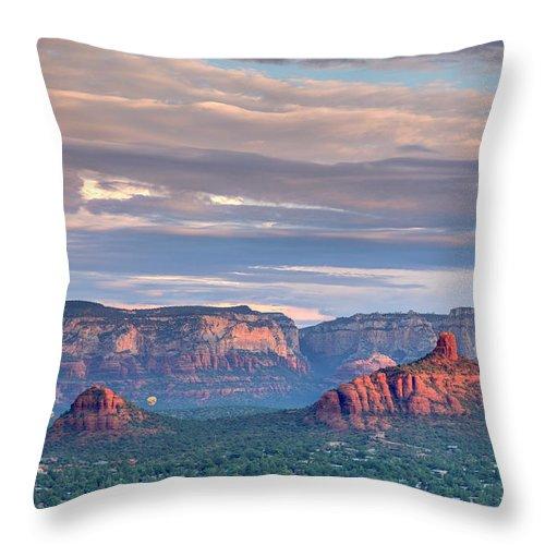Scenics Throw Pillow featuring the photograph Usa, Arizona, Sedona by Michele Falzone
