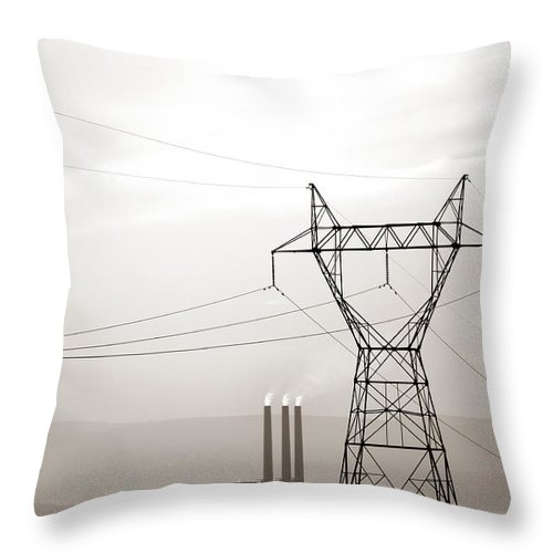 Usa Throw Pillow featuring the photograph Usa Energy by Marilyn Hunt