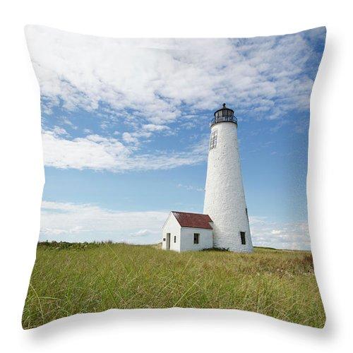 Tranquility Throw Pillow featuring the photograph Usa, Massachusetts, Nantucket Island by Tetra Images - Chris Hackett