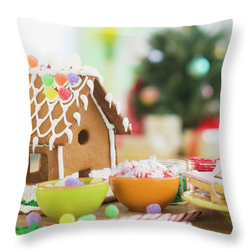 Christmas Ornament Throw Pillow featuring the photograph Usa, New Jersey, Jersey City by Tetra Images - Daniel Grill